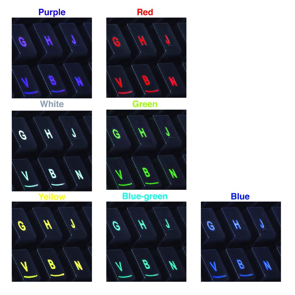 EagleTec K005 Gaming Keyboard Mouse Combo 7 Color LED Backlit Keyboard , Gaming Mouse With LED