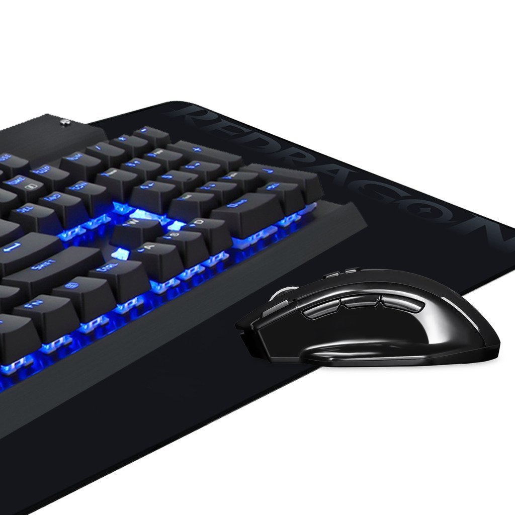 EagleTec Gaming Mechanical Keyboard, Wireless Gaming Mouse, Gaming Mouse  Pad, Combo KG010-BA, LED backlit Keyboard, Backlit Wireless Mouse, Large
